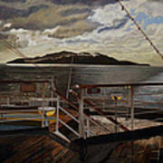 Leaving Queen Charlotte Sound Art Print