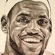 Lebron James Art Print by Tamir Barkan