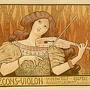 Lecons De Violon Art Print