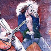 Led Zeppelin Jimmi Page And Robert Plant  Art Print by Yuriy  Shevchuk