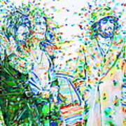 Led Zeppelin - Watercolor Portrait.2 Art Print