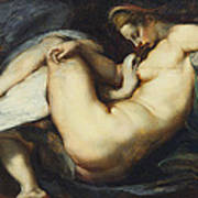 Leda And The Swan Art Print by Rubens