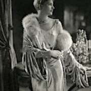 Lee Miller Wearing An Evening Gown Art Print