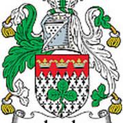 Leech Coat Of Arms Irish Art Print