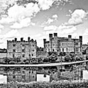 Leeds Castle Black And White Art Print