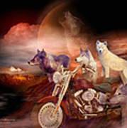 Legend Of Wolf Mountain Art Print