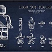 Lego Toy Figure Patent Drawing Art Print