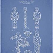 Lego Toy Figure Patent - Light Blue Art Print