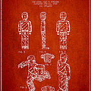 Lego Toy Figure Patent - Red Art Print