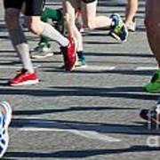 Legs Of Runners At Marathon Art Print