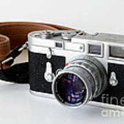 Leica M3 With Leather Strap Art Print
