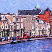 Leiden Canal Art Print