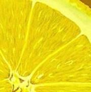 Lemon Art Print by Anastasiya Malakhova