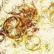 Lemon Bubbles Art Print