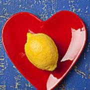 Lemon Heart Art Print by Garry Gay