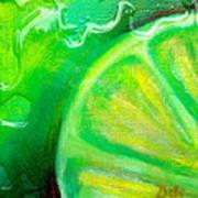 Lemon Lime Art Print by Debi Starr