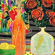 Lemon Squash And Pumpkin Art Print by Diane Fine