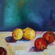 Lemons And Apples Art Print