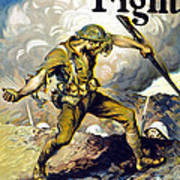 Lend The Way They Fight, 1918 Art Print