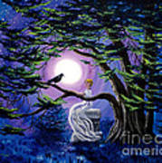 Lenore By A Cypress Tree Art Print