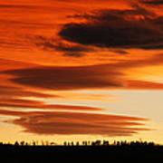 Lenticular Sunset 1 Art Print