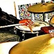 Leo Drumming Art Print