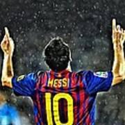 Leo Messi Poster Art Art Print