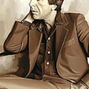 Leonard Cohen Artwork 2 Art Print