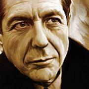 Leonard Cohen Artwork Art Print