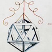 Leonardo Icosahedron Art Print