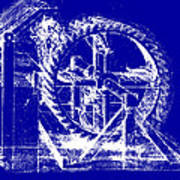 Leonardo Machine Blueprint Art Print