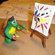 Leonardo The Mutant Painting Turtle Print by Scott Faucett