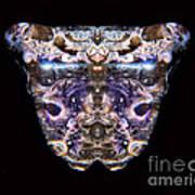 Leopard Heart Bowl Art Print