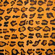 Leopard Print Hand Painted Leopard Print  Art Print