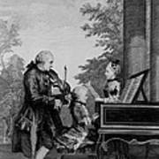 Leopold Mozart And His Two Children Art Print