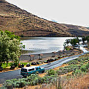 Lepage Rv Park On Columbia River-or Art Print