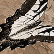 Lepidoptery - Sepia Art Print