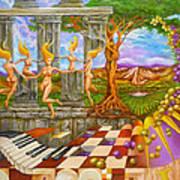 Les Amours Hallucines De La Vigne Et Du Pin Parasol Art Print