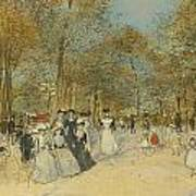 Les Champs-elysees Art Print