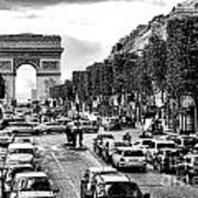 Les Champs Elysees  Art Print