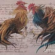 Les Deux Coqs Art Print