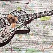 Les Paul On Austin Map Art Print