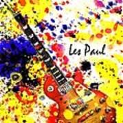 Les Paul Retro Art Print