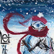 Let It Snow Version One Art Print
