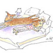 Let Sleeping Dogs Lie Art Print by Molly Brandenburg