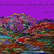 Let The Mountains Sing Art Print