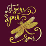 Let Your Spirit Soar. Hand Drawn Art Print