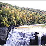 Letchworth State Park Middle Falls Panorama Art Print