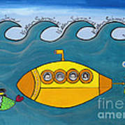 Lets Sing The Chorus Now - the Beatles Yellow Submarine Art Print