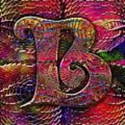 Letter B Art Print